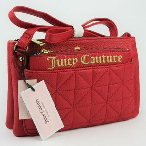 Juicy Couture Star Burst Mid Crossbody Red Bag